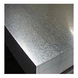 Lamiera zincata (sendzimir) dalle dimensioni di 100x200cm, spessore 1,5mm