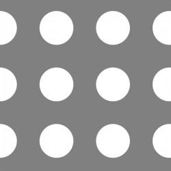 Lamiera forata in fe (acciaio comune) dalle dimensioni di 100x200cm,  spesore 2mm, foro rotondo Ø30mm, passo 50mm a 90°