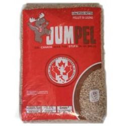 Pellet prodotto in Canada da 100% di legno di conifera.Tonalità bianco dorato, conforme alle normative europee EN Plus A