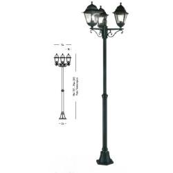 Lampione AVENIDA 3 luci