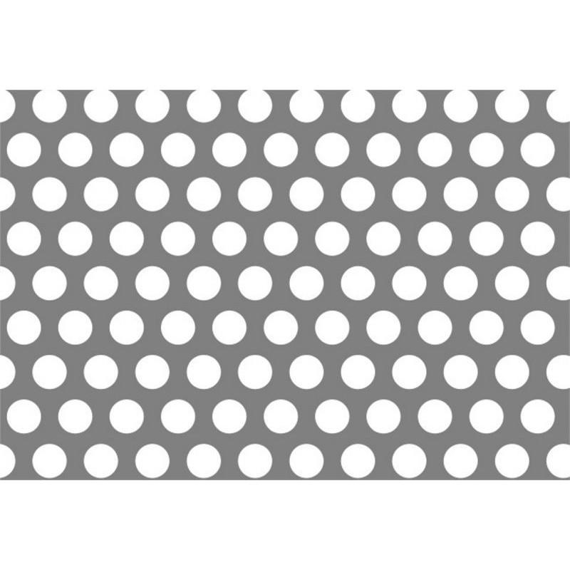 Top forata in alluminio dalle dimensioni 150x300 cm, spessore 4mm  RH45