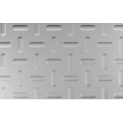 Lamiera bugnata in fe dalle dimensioni di 125x250cm, spessore 2mm con bugna modello B5