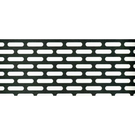 Lamiere in aisi 304 dalle dimensioni 100x200 cm  spessore 1,5mm foro asola 5x20 passo 9x24 sfalzato