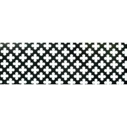 Lamiera forata in fe (acciaio comune) dalle dimensioni 100x200cm, spessore 1,5mm, foro fiore dimensione 11mm, passo 16mm