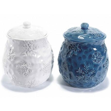 Barattolo in ceramica Snow