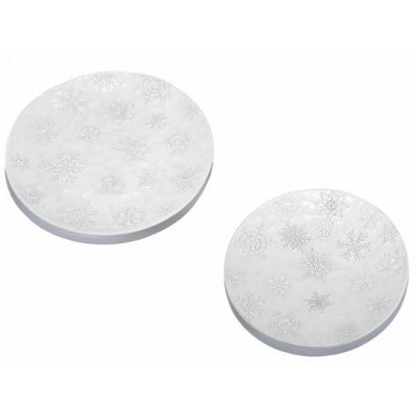 Piatto in ceramica Snow -  cm Ø 24 x 2,9 H