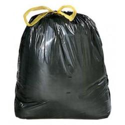 Sacco immondizia nero con laccio 80x120 cm