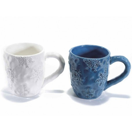 Tazza mug in ceramica Snow