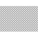 Lamiera forata in alluminio (lega 1050) dalle dimensioni 100x200cm, spessore 0,8mm, foro fantasia dis.10