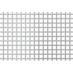 Lamiera forata in fe (acciaio comune) dalle dimensioni 100x200cm, spessore 1mm, foro quadro 10x10mm, passo 12mm a 90°