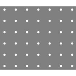 Lamiera fe ( acciaio comune ) dalle dimensioni di 100x200 cm spessore 1,5mm foro D.5 passo 25 a 90°