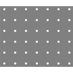 Lamiera forata in fe (acciaio comune) dalle dimensioni 100x200cm, spessore 1,5mm, foro rotondo Ø5mm, passo 12,5mm a 90°