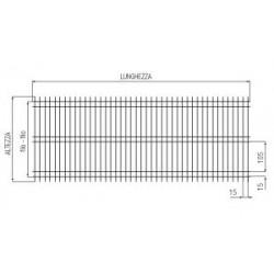 Rete elettrosaldata zincata,dalle dimensioni 1000x2000 mod.Tec, H D.2,85
