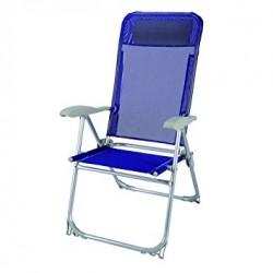 Sedia PLAYA struttura in alluminiotubolare D.22cm, reclinabile in 5 posizioni, tessuto in textilene. Dimensioni: cm 67x6