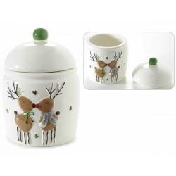 Barattolo in ceramica con renne