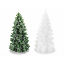 Candela glitterata a forma di pino