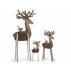 Set 3 renne in legno