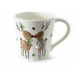 Tazza in ceramica con renne