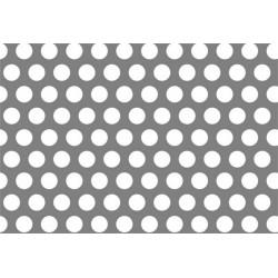 Lamiera fe ( acciaio comune ) dalle dimensioni di 100x200 cm spessore 2 mm  foro D.4 passo 6 a  60°