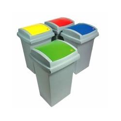 Bidone recycling cm 43x39 h 68 verde