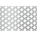 Lamiera forata in alluminio dalle dimensioni 100x200 cm, spessore 1,5 mm, fantasia arabica