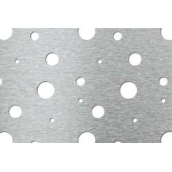 Lamiera forata in acciaio inox (aisi 304) dalle dimensioni 100x200cm, spessore 1mm, fantasia bolle di sapone