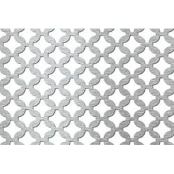 Lamiera forata in aisi 304 dalle dimensioni 100x200 cm, spessore 1,5 mm, fantasia arabica