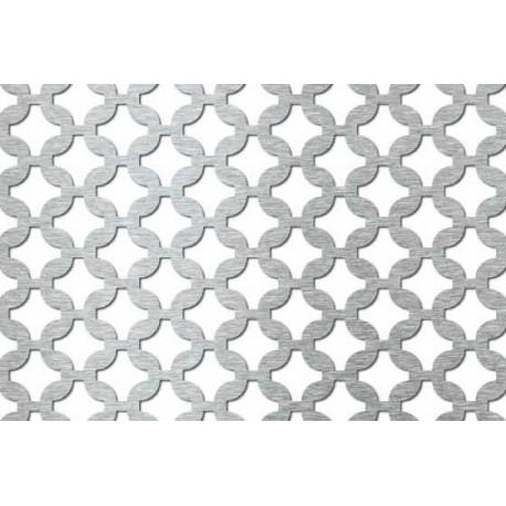 Lamiera forata in fe dalle dimensioni 100x200 cm, spessore 1,5 mm, fantasia arabica
