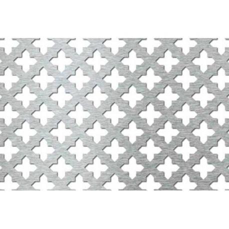 Lamiera forata in fe dalle dimensioni 1250x2500, spessore 1mm,foro croce D.15
