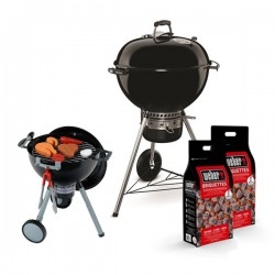 Promo Daddy's Day - Barbecue a carbone Weber Master-Touch GBS ø57cm + 2 Bricchetti Weber 4kg + Kettle Toy