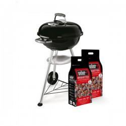 Promo Primavera 2018 - Barbecue a carbone Weber Compact Kettle ø47cm + 2 Bricchetti Weber 4kg