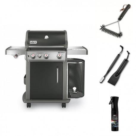 Promo Primavera 2018 - Barbecue a gas Weber Spirit E-330 GBS + Spazzola Weber piccola a T + Kit 2 pezzi Weber per pulizi