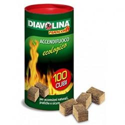 Accendifuoco naturale Diavolina - 100 cubi