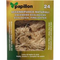 Accendifuoco naturale Papillon - 24 pz