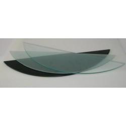 Ripiano GALATTICHE in vetro sabbiato semicerchio - 16x58 cm