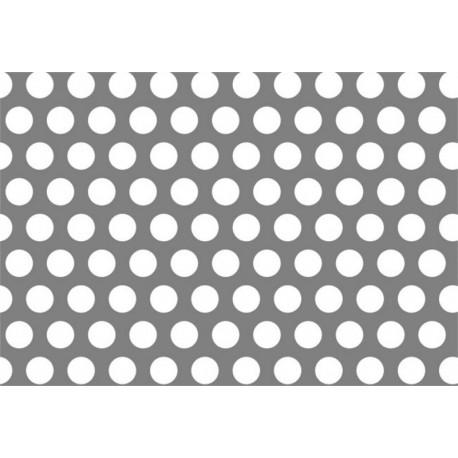 Lamiere zincate ( sendzimir ) dalle dimensioni di 100x200 cm spessore 1,5 mm  foro D.3 passo 5 a 60°