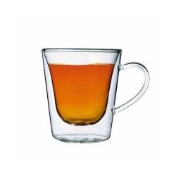Tazza caffè americano DUOS in vetro trasparente termico - 2 pz
