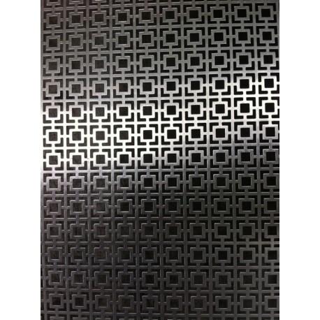 Lamiera alluminio ( lega 1050 ) dalle dimensioni di 100x200 cm spessore 0,8 mm foro fantasia 28