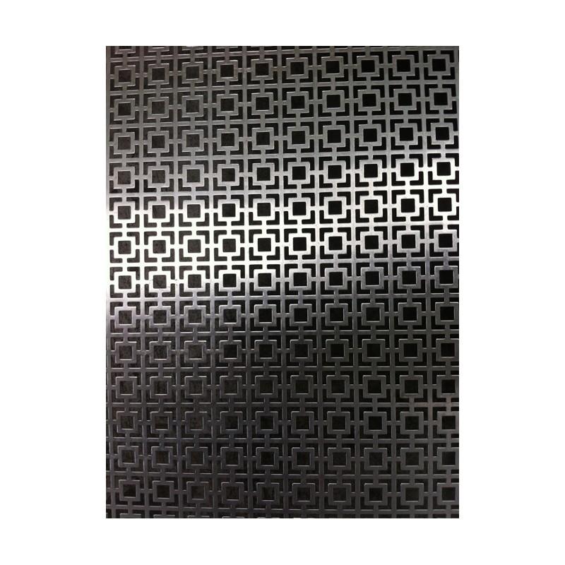 Lamiera forata in alluminio (lega 1050) dalle dimensioni 100x200cm, spessore 0,8mm, foro fantasia 28