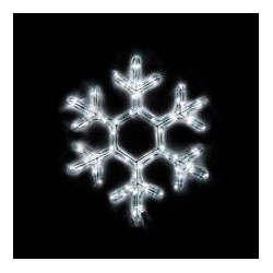 Fiocco di neve Led 53 cm - Bianco Freddo