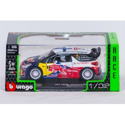 Modellino auto  completo di custodia mod  Citroen Total World Rally Team  Mikko Hirvonen 2012  in scala 1/32