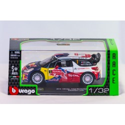 Modellino auto  completo di custodia mod  Citroen Total World Rally Team  Sebastien Loeb 2012  in scala 1/32
