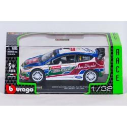 Modellino auto  completo di custodia mod  Ford Abu Dhabi Word Rally Team  Jari-Matti Lavtala  2011  in scala 1/32