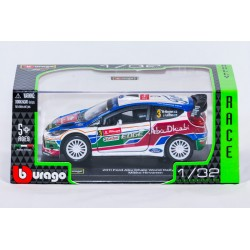 Modellino auto  completo di custodia mod  Ford Abu Dhabi Word Rally Team  Mikko Hirvonen 2011  in scala 1/32