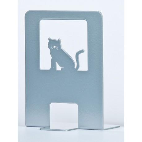 Fermalibro CUPIDO - Gatto col. grigio metallizzato