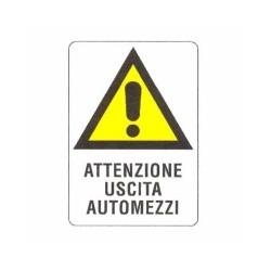 Cartello Plastica Uscita Automezzi