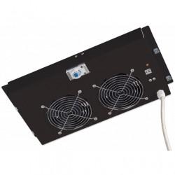 Gruppo di ventilazione Intellinet a soffitto per Rack 19 2 Ventole Nero