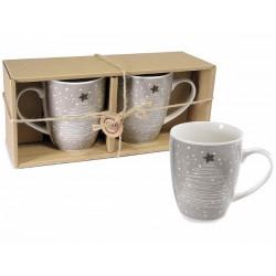 Set 2 tazze in ceramica Natale