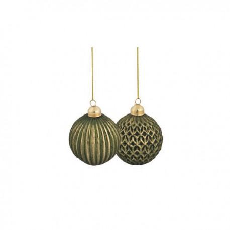 Box 6 sfere Verde - ø 6 cm