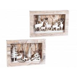 Quadro in legno con Led - cm 28x18,5